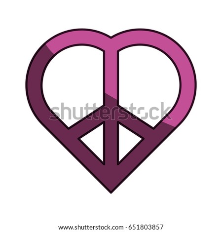 Peace Love Symbol Stock Vector 651803857 Shutterstock