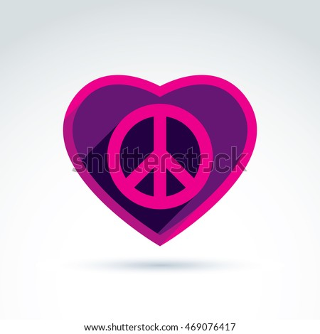 Peace Love Theme Antiwar Love Vector Stock Vector 469076417