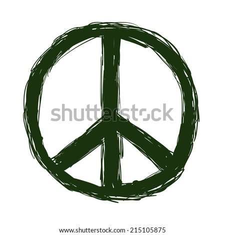 peace design over white background vector illustration