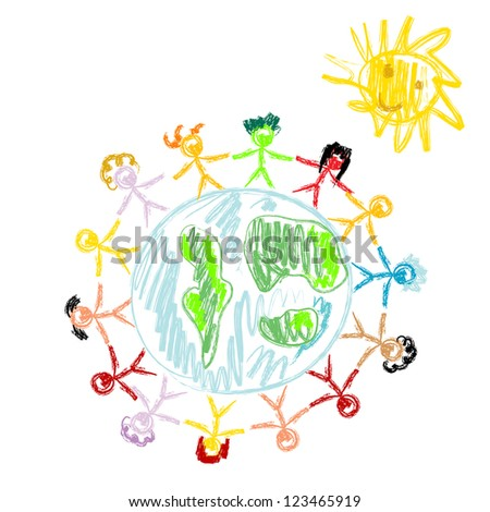 Peace doodles - stock vector