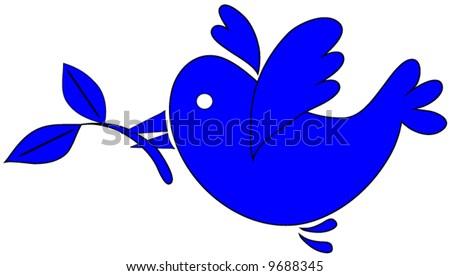 Peace Dove Vector. - stock vector