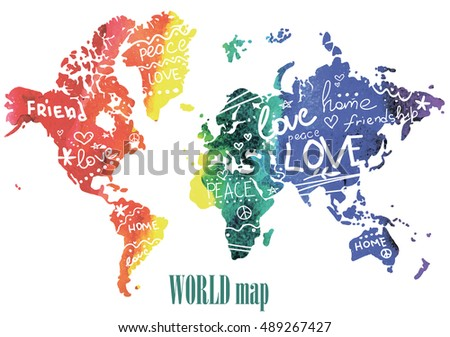 Peace friendship love posters postcards print stock vector peace friendship and love posters postcards print on a t shirt publicscrutiny Image collections