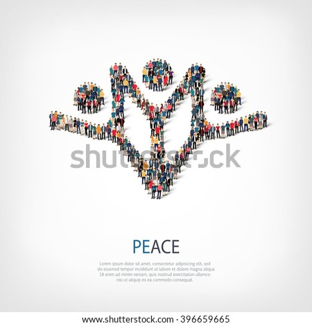peace man people - stock vector