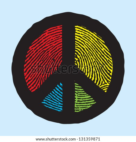 peace sign - stock vector