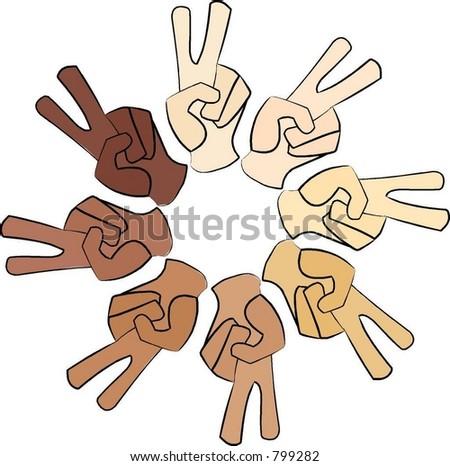 peace sign circle - stock vector