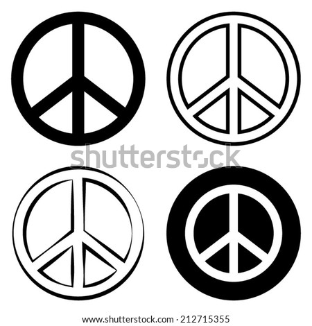 Peace Sign Symbol - stock vector