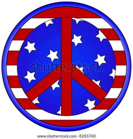 Peace sign vector. - stock vector