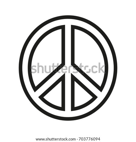 peace sign vector black icon on stock vector 703776094 shutterstock rh shutterstock com peace sign vector free download peace sign vector png