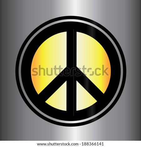 Peace sign vector icon - stock vector