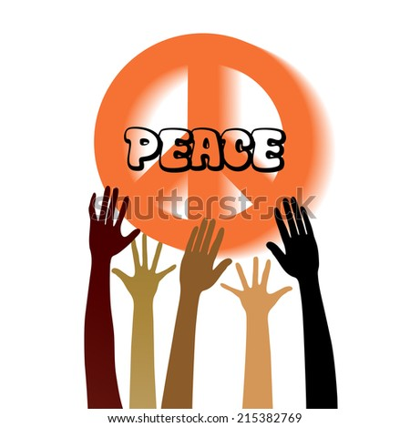 Peace sign with hands  - stock vector