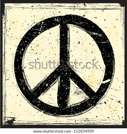 Peace symbol - stock vector