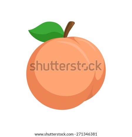 Peach. Isolated icon pictogram. Eps 10 vector illustration. - stock vector