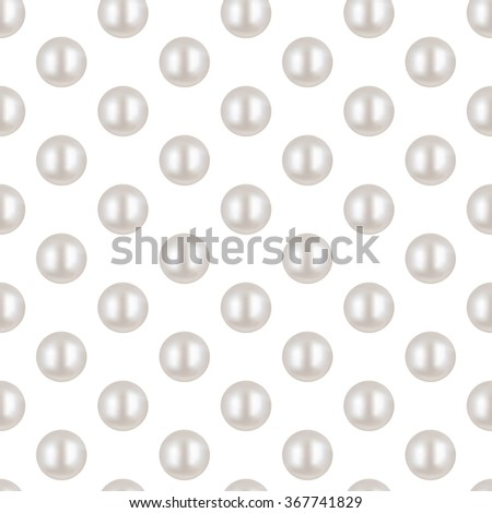 Pearl. White pearl Seamless Pattern. Beautiful 3D Pearl texture. 3D Pearl Realistic  Vector Illustration. Shiny natural white pearl with light effects. Wedding theme. Abstract Vector background. - stock vector