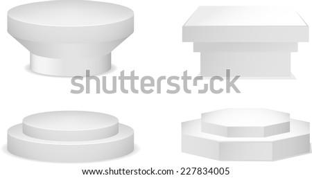 Pedestal set vector collection. - stock vector