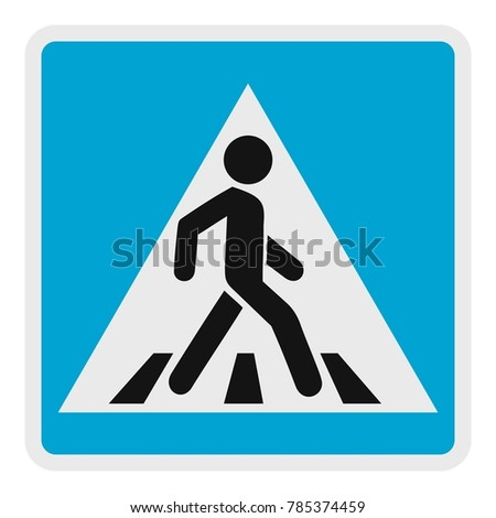 Pedestrian icon. Flat illustration of pedestrian vector icon for web.