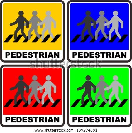 pedestrian, sign - stock vector