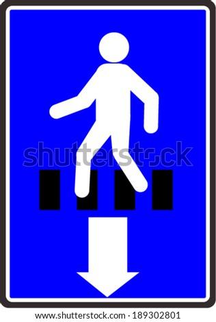 pedestrian, sign vector - stock vector