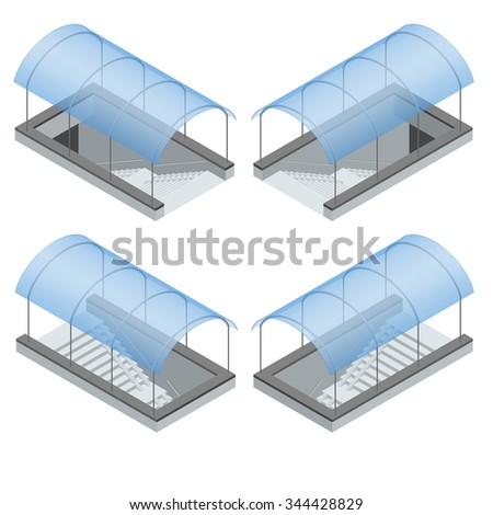 Pedestrian subway. Underpass. Flat 3d isometric vector illustration. For infographics and design