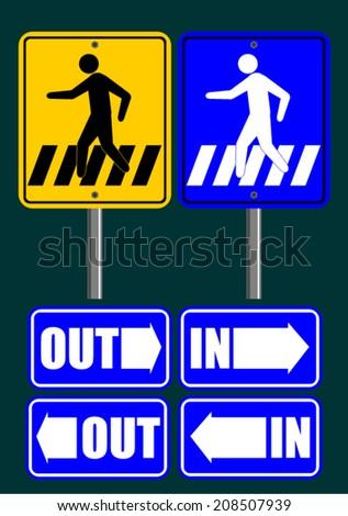 Pedestrian symbol  - stock vector