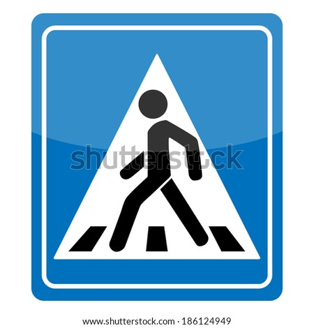 Pedestrian Symbol Vector Illustration isolated on white background - stock vector