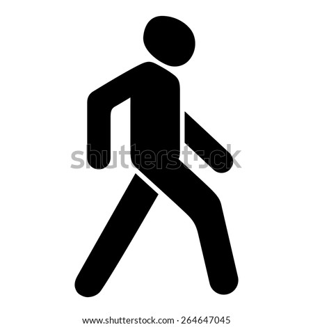 Pedestrian. Vector icon. - stock vector