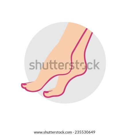 Pedicure, foot care icon - stock vector