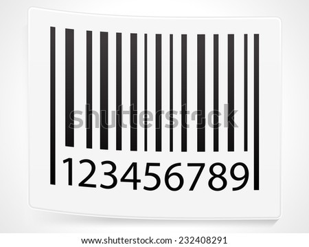 Peeling barcode sticker - stock vector