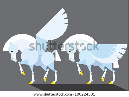 Pegasus - illustration - stock vector
