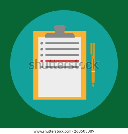 Pen and note icons in glossy style for web design. Jpeg version also available in gallery - stock vector