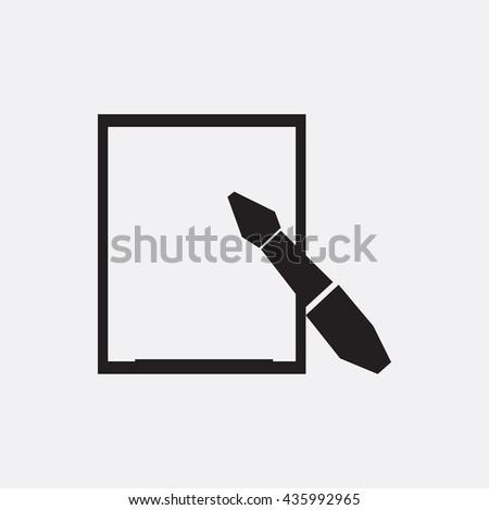 Pen and paper Icon, Pen and paper Icon Eps10, Pen and paper Icon Vector, Pen and paper Icon Eps, Pen and paper Icon Jpg, Pen and paper Icon, Pen and paper Icon Flat, Pen and paper Icon App - stock vector