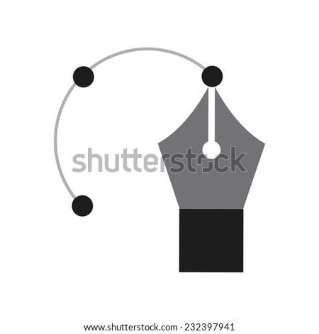 pen graphic design , vector illustration - stock vector