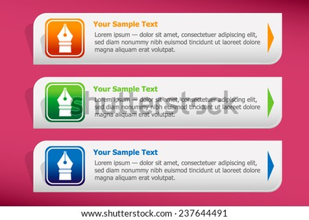 Pen icon and design template vector. Graphic  or website. - stock vector