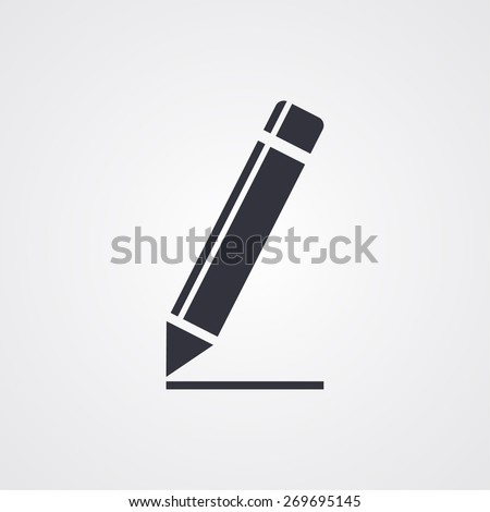 Pen icon. Vector Eps 10 - stock vector