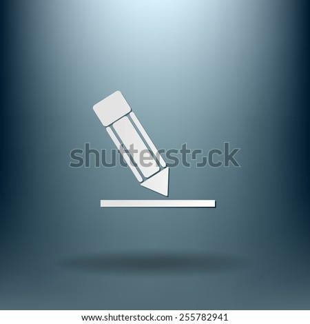 pen or pencil writing on a sheet - stock vector