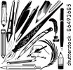 Pen & Pencil Collection - stock vector