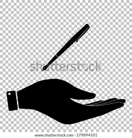 Pen sign. Flat style icon vector illustration.