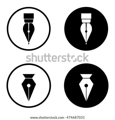tool icon vector. pen tool icon vector illustration c