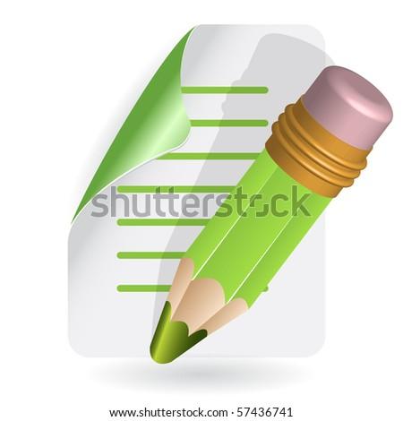 pencil - stock vector
