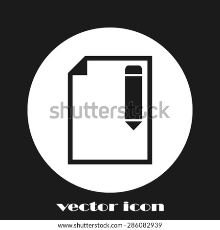 Pencil and Paper,Pencil Icon Vector. Pencil Icon JPEG. Pencil Icon Picture. Pencil Icon Image. Pencil Icon Graphic. Pencil Icon JPG. Pencil Icon EPS. Pencil Icon AI. Pencil Icon Drawing - stock vector