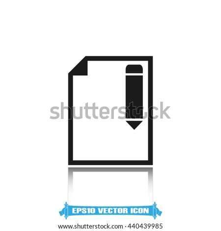pencil and paper sheet icon vector illustration eps10 - stock vector