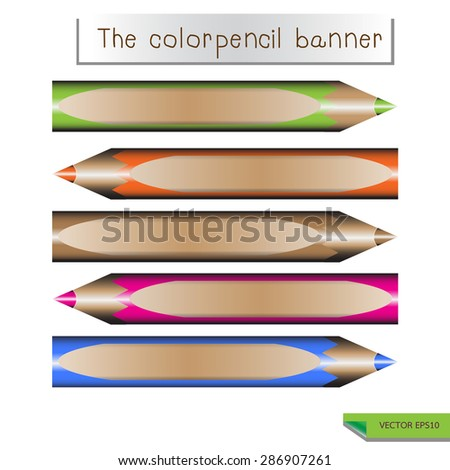 pencil  banners . Eps 10 vector file.