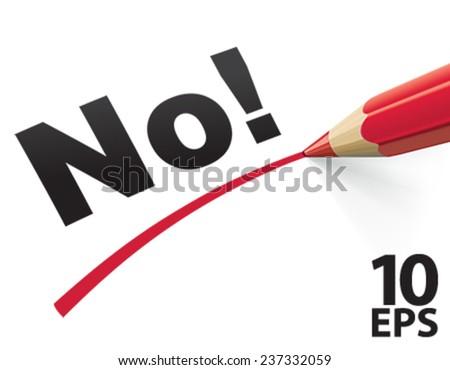 Pencil check No. Vector Illustration - stock vector
