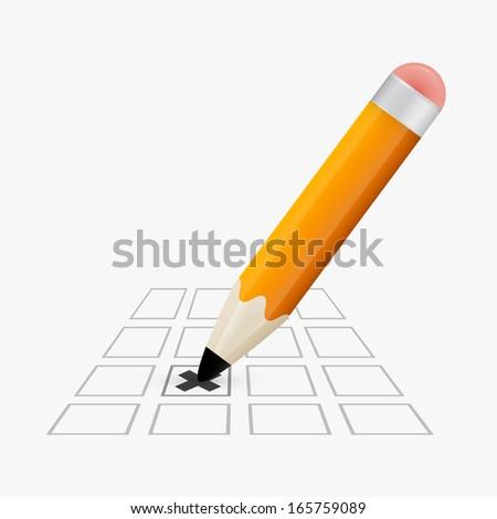 Pencil Check Option - stock vector