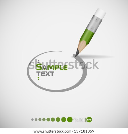 Pencil drawing line. Vector illustration. Eps 10. - stock vector