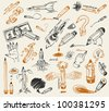 Pencil drawing. Vector version of raster image. - stock photo