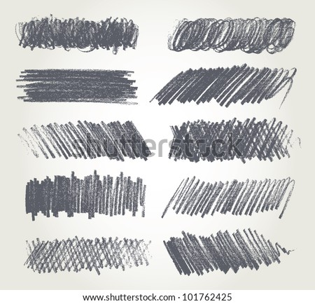Pencil drawing. Vector version of raster image. - stock vector