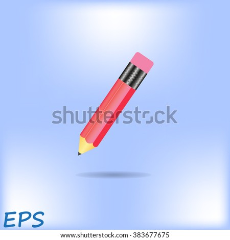 Pencil. Flat Design vector icon