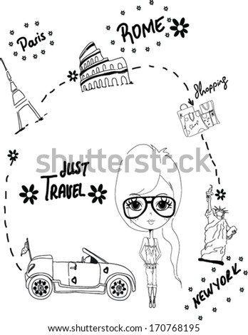 pencil hand drawing - stock vector