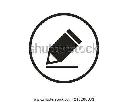 pencil  icon  - stock vector