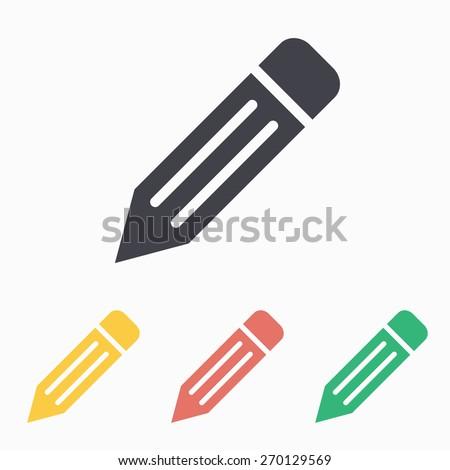 Pencil icon, vector illustration. - stock vector